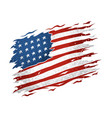 united states american flag is torn and looks vector image