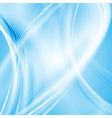 White and blue waves vector image