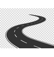 winding road journey traffic curved highway road vector image vector image