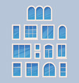 window design glass various types architectural vector image vector image