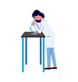 young caucasian woman doctor or scientist vector image vector image