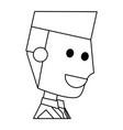 young man cartoon vector image vector image