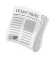 newspaper crime newscrime article in the press vector image