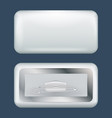 rectangular badge mockup realistic style vector image
