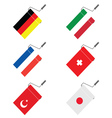roller for painting with flags vector image