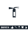 Fire extinguisher icon flat vector image