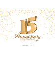 anniversary 15 gold 3d numbers