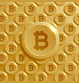 background made with bitcoins pattern vector image vector image
