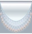 Backrground with pearls vector image
