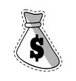 bag money dollar cash cut shadow vector image