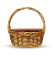 Basket Realistic Side View Image vector image vector image