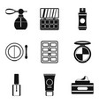 beautician icons set simple style vector image