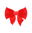 big bright red bow hair accessory for girl decor vector image vector image