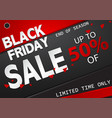black friday sale banner abstract background vector image vector image