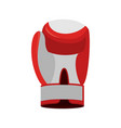 boxing glove red accessory for boxer sports vector image vector image