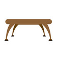 brown table platform stand template for object vector image vector image
