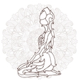 card with pose ornament yoga vector image vector image