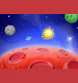 cartoon alien landscape lunar red planet vector image vector image