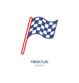 checkered flags line icon speed automobile vector image vector image