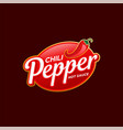chili pepper logo template vector image