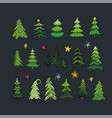 christmas trees image design set for you vector image vector image