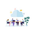 cloud storage technology flat people characters vector image