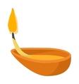 Coconut oil lamp icon cartoon style vector image vector image