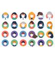 collection multi ethnic avatars wearing masks vector image