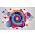 color vortex and whirlpool abstract background vector image vector image