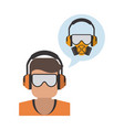 construction worker avatar vector image vector image