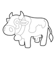 Cow icon outline style vector image vector image