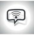 Curved Wi-Fi message icon vector image vector image
