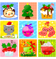 cute christmas collection vector image