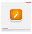 dentist tools elements icon orange abstract web vector image