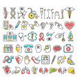 disability and medical icons signs isolated on vector image vector image