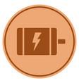electric motor bronze coin vector image vector image