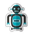 electric robot avatar character vector image