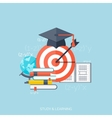 Flat concept education background Back to school vector image vector image