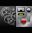 gear wheels in black and white and metallic vector image vector image