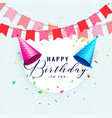 happy birthday party celebration card design vector image vector image