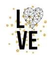 Happy valentines day love greeting card with white vector image vector image