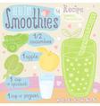 healthy smoothie recipe set vector image vector image