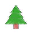 isolated cute tree vector image vector image