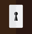 Keyhole in wooden door vector image vector image