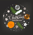 merry christmas and happy new year greetings vector image vector image