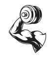 monochrome bodybuilder biceps concept vector image