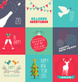 New year 2015 flat design set vector image