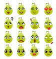 pear emoji emoticon expression vector image