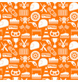 racing sport background pattern on a orange vector image vector image