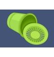 Recycle bin isometric flat vector image vector image